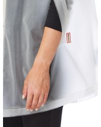 HUNTER - White Waterproof Vinyl Cape - Lyst