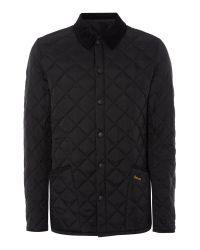 Barbour | Black Heritage Liddesdale Quilted Jacket for Men | Lyst