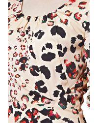 Great Plains - Multicolor Leopard Kisses Ruched Dress - Lyst