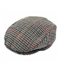 Dents | Gray Mens Dogtooth Flat Cap for Men | Lyst