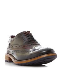 Ted Baker | Black Krelly Contrast Sole Lace Up Brogue for Men | Lyst