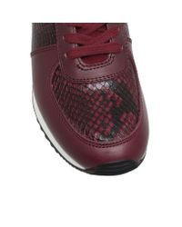 Michael Kors Red Allie Wrap Flat Lace Up Sneakers