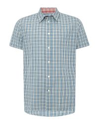 Paul Smith | Blue Short Sleeve Small Check Print Shirt for Men | Lyst
