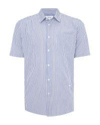 Soulland | Blue Lauridsen Regular Fit Seersucker Stripe Shirt for Men | Lyst