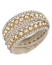 Swarovski | Natural Crystal Double Wrap Bracelet | Lyst