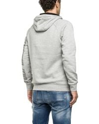 Replay - Gray Cotton Hoodie for Men - Lyst