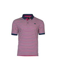 Raging Bull | Red Pin Stripe Polo for Men | Lyst