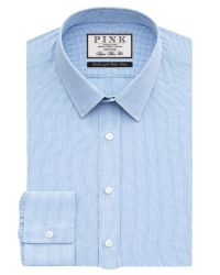 Thomas Pink | Blue Hicks Check Super Slim Fit Shirt for Men | Lyst