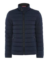 Bugatti | Blue Quilted Bomber Coat for Men | Lyst