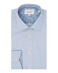 Ted Baker | Blue Elsu Spot Shirt for Men | Lyst