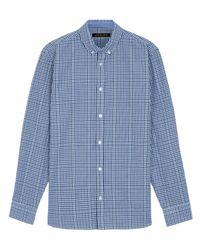 Jaeger | Blue Cotton House Check Shirt for Men | Lyst