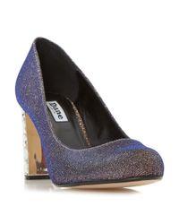 Dune | Multicolor Bindi Jewel Block Heel Court Shoes | Lyst
