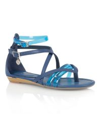 Lotus | Blue Zanzi Toe Post Sandals | Lyst