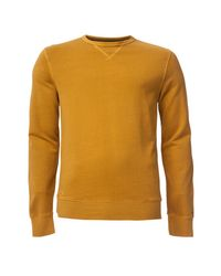 Tommy Hilfiger   Yellow Basic Garmet Dyed Sweater for Men   Lyst