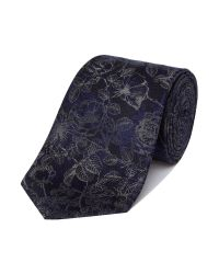Richard James | Blue Sketch Roses Silk Tie for Men | Lyst