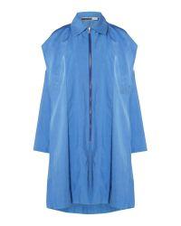 Sportmax Code | Blue Longsleeve Lightweight Trench Coat | Lyst