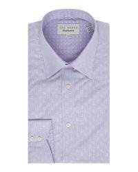 Ted Baker | Purple Tonal Paisley Shirt for Men | Lyst