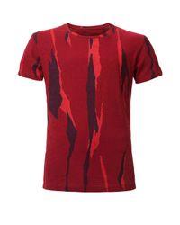 Calvin Klein | Red Trent Aop Cn Regular Fit Tee Ss for Men | Lyst