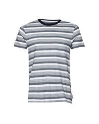 French Connection | Blue Coal Jacquard Stripe T-shirt for Men | Lyst
