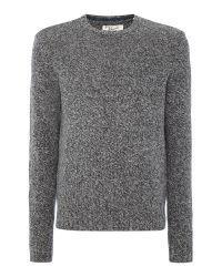 Original Penguin | Gray Mouline-lambswool Crew-neck Knitted Jumper for Men | Lyst