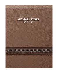 Michael Kors - Brown Harrison Zip Top Saffiano Leather Briefcase for Men - Lyst