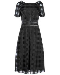 True Decadence | Black Short Sleeve Midi Dress | Lyst