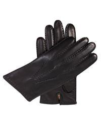 Dents - Black Mens Leather Glove With Cashmere Lining for Men - Lyst