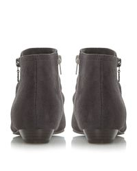 Dune - Gray Pammy Side Zip Detail Ankle Boots - Lyst
