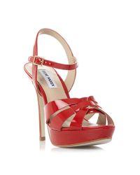 Steve Madden | Red Kaiden Strappy Platform Sandals | Lyst
