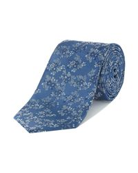 Howick | Blue Barnes Floral Jacquard Silk Tie for Men | Lyst