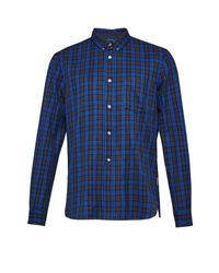 French Connection | Green Tarp Check Connery Shirt for Men | Lyst