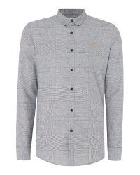 Farah | Black Outwell Yarn Dye Check Shirt for Men | Lyst