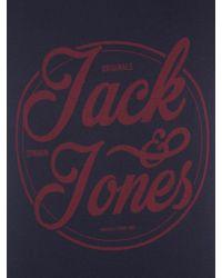 Jack & Jones - Blue Cotton Logo Short-sleeve T-shirt for Men - Lyst