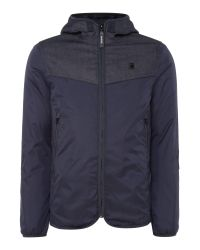 G-Star RAW | Blue Setscale Dnm Hooded Jacket for Men | Lyst