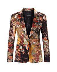 James Lakeland   Multicolor Print Velvet Jacket   Lyst