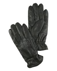 Jane Norman | Black Bow Leather Gloves | Lyst