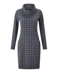 James Lakeland | Blue Cowl Neck Tunic Dress | Lyst
