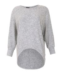 Izabel London   Gray Batwing Knit Top With High Low Hem   Lyst