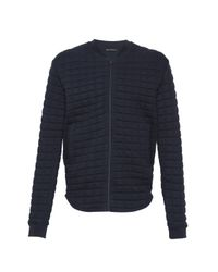 French Connection | Blue Joystick Zip Through Sweatshirt for Men | Lyst
