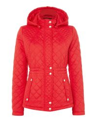 Weatherproof | Blue Hooded Quilted Jacket With Inner Drawcord | Lyst