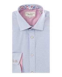 Ted Baker | Blue Eden Printed Shirt for Men | Lyst