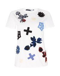 Sportmax Code | White Baia Shortsleeve Embroidered Shape T-shirt | Lyst