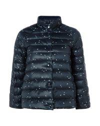 Armani Jeans | Reversible Puffer Jacket In Blue Spot | Lyst