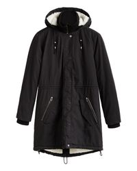 Sandwich - Black Faux Fur Lined Parka - Lyst