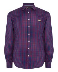 Thomas Pink | Blue Fletcher Check Classic Fit Button Cuff for Men | Lyst