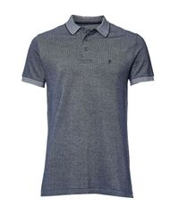 French Connection   Blue Winter Jumbo Pique Polo Shirt for Men   Lyst