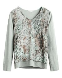 Sandwich | Green Layered Abstract Print Top | Lyst