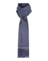 Ted Baker | Blue Micro Geo Print Silk Scarf for Men | Lyst