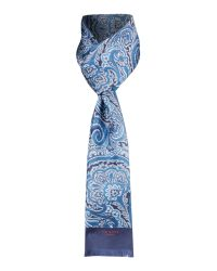 Ted Baker | Blue Paisley Print Silk Scarf for Men | Lyst
