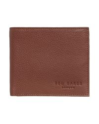 Ted Baker | Brown Leather Bi-fold Coin Wallet for Men | Lyst